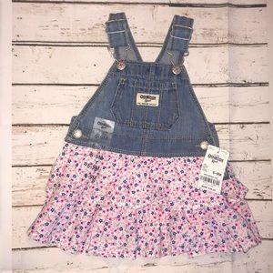 OshKosh Overall Dress For Baby Girl 6-9 months